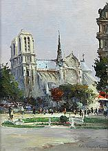 Painting, Colin Campbell Cooper, View of Notre Dame
