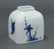 Chinese Blue-and-White Porcelain Brush Washer