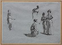Drawing, Attributed to Hendrik Siemiradzki