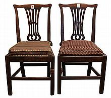 Pair of George III hall chairs