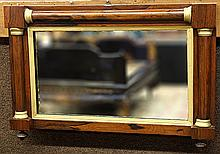 Neoclassical style partial gilt mirror