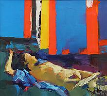 Painting, Nicola Simbari, Nude in Repose