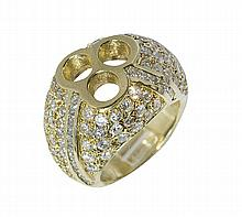 Diamond and 14k yellow gold semi mounting