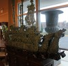 JADE HAND CARVED GORGEOUS FIVE HEAD DRAGON SHIP 77'H X 98