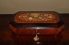 ITALIAN MUSICAL JEWELRY BOX W/REMOVABLE TRAY MARQUETRY