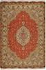 IRAN TABRIZ ORIENTAL RUG, 8-1 X 11-8, SILK & WOOL, HAND WOVEN & HAND KNOTTED