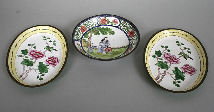 Group of Chinese Enamel Wares c. 1900