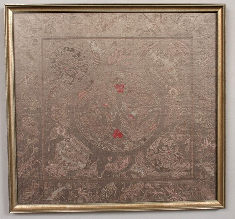 Pair of Framed Chinese Textiles