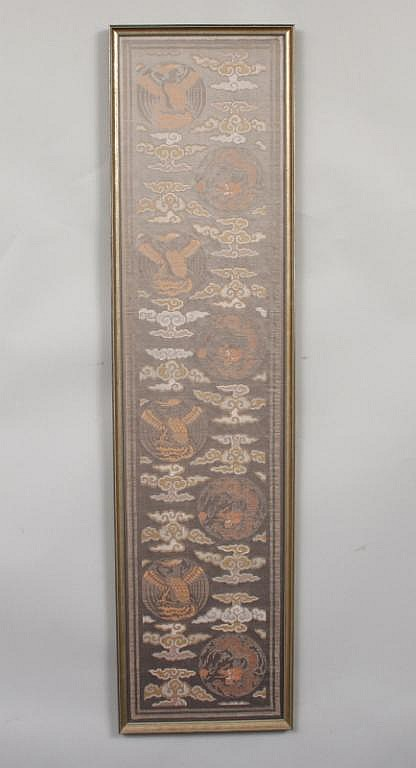 Framed Chinese Embroidered Textile