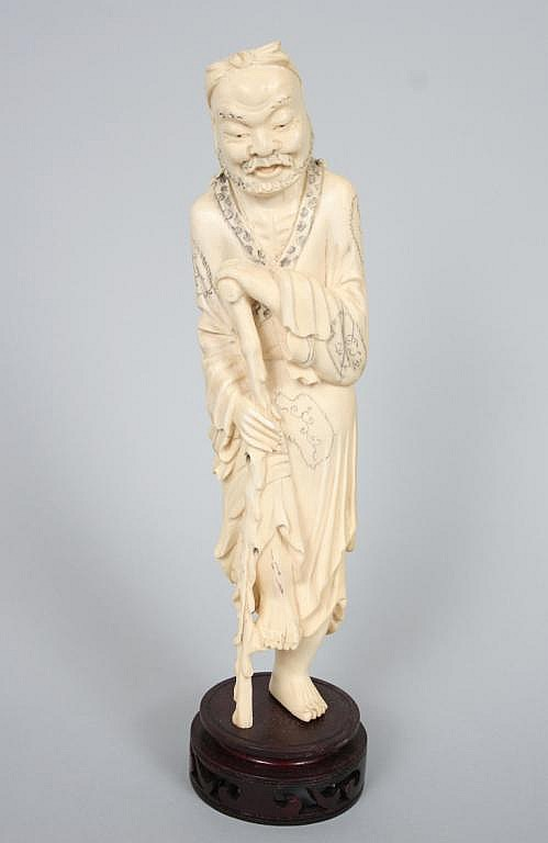 Asian Ivory Carving of a Man
