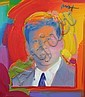 Peter Max Painting on Canvas of Tim Durham