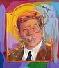 Peter Max Portrait Painting on Canvas of Tim Durham
