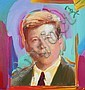 Peter Max Mixed Media Painting on Canvas of Tim Durham
