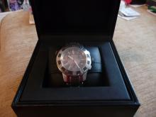 TIFFANY & CO T 57 CHRONOGRAPH DATE WATCH W/ ORIGINAL BOXES