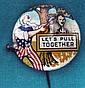 WWII Lets Pull Together Anti Hitler Pin