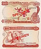 Singapore 'orchid' $10 banknote