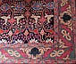 Persian Bijar floral motif carpet