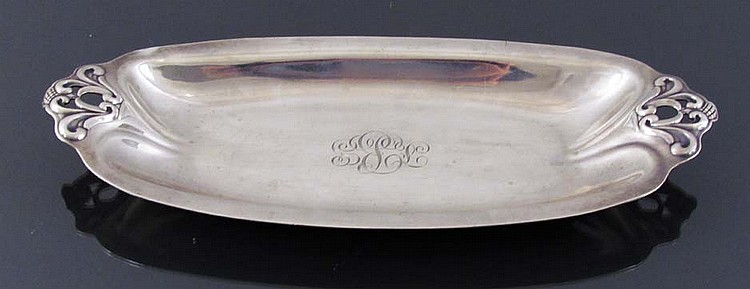 Sterling silver Bread Tray by International, Royal Danish pattern