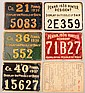 Lot of (5) PA tin plate resident hunting license tags: 1935 through 1939 plus a 1938 paper license. Condition: fair to fine.