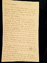 A handwritten letter from Phoebe Snow 7-6-00