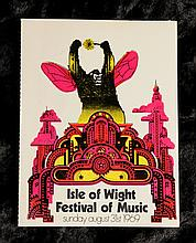 Bob Dylan: An autographed ticket for the Isle of Wight Festival, 1969,