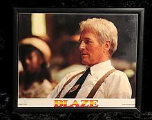 Paul Newman: autographed still from 'Blaze', 1989