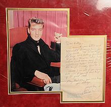 Elvis Presley: a handwritten autographed letter to a fan, circa 1959