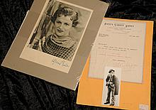 Silver screen: Gracie Fields autographed headshot and Will Fyffe letter