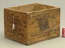 Early Typwriter Shipping Crate
