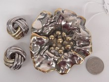Sterling Silver Brooch & Earrings