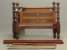 19th c. Empire Carved Bed