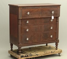 19th c. Empire Chest Of Drawers