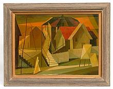 Isaac Friedlander  (1890 - 1968), Cityscape