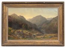 American School Mountain Landscape Painting