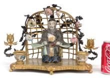 French Figural Inkwell