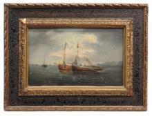 J.M. Gilbert Seascape Painting