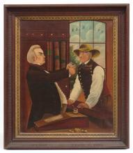 19th c. Folk Art Painting