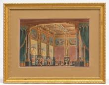 English School (19th c.), Palace Interior