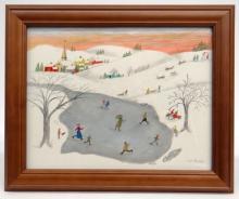 Evelyn Dubiel (Ct. b. 1922), Folk Art Watercolor