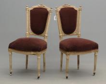 Pair Continental Chairs