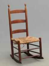 19th c. Shaker Youth Rocking Chair