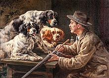 Self Portrait with Three Setters