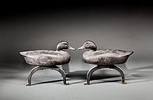 Life-Size Duck Andiron Pair