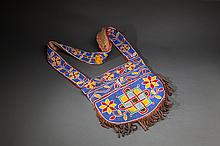 Native American Beaded Cloth Bag
