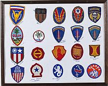 Display of US Military Patches