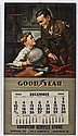 1944 Goodyear Advertisement Calendar