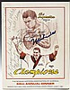 Muhammad Ali Signed Boxing Writers Assoc. Program
