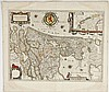 C 1640 Hollandia Comitatus Map W.J. Blaeu