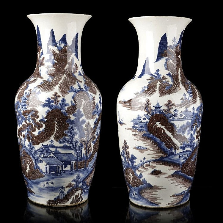 PAIR OF LARGE VASES