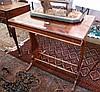 Nineteenth century mahogany veneered occasional